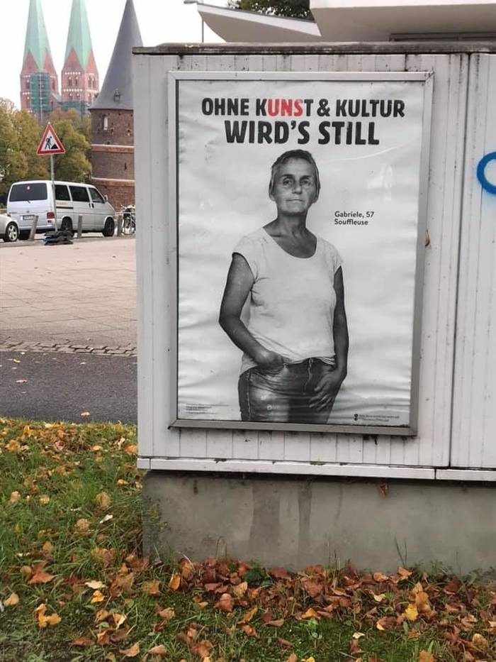 """""""Ohne Kunst & Kultur wird's still"""" viral campaign 9"""