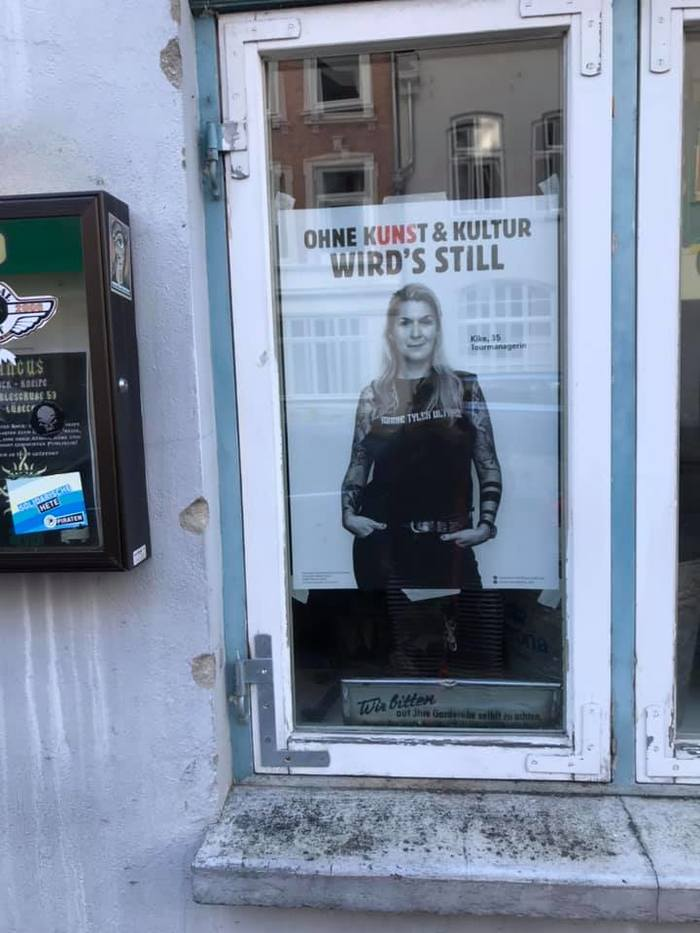 """""""Ohne Kunst & Kultur wird's still"""" viral campaign 12"""