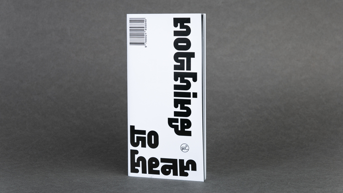 Nothing to hear booklet and exhibition poster 2