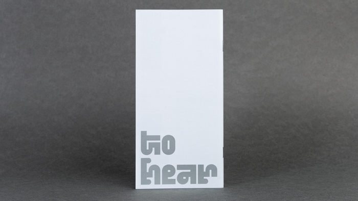 Nothing to hear booklet and exhibition poster 9