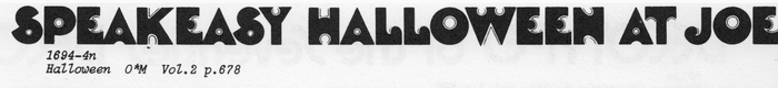 Halloween as shown in Photo-Lettering's One Line catalog (1971).