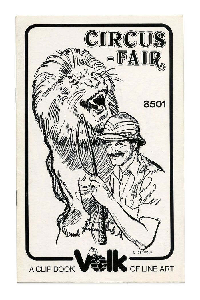 """Circus-Fair"" (No. 8501 ft. . This cover switches to  as the secondary typeface."
