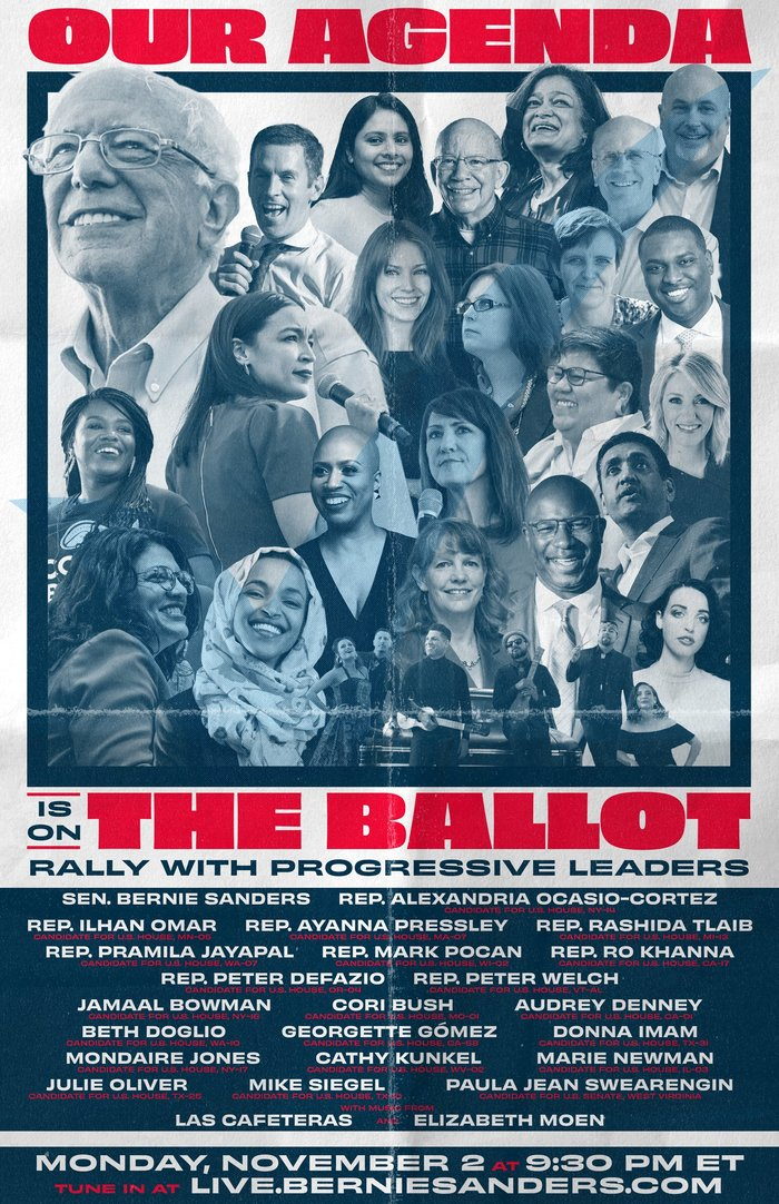 """""""Our agenda is on the ballot"""" poster"""