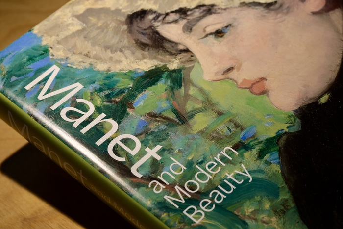 The unconventional arrangement of the title typography on the book jacket nicely integrates with the chosen detail of one of Manet's paintings – and adds a contemporary touch along the way.