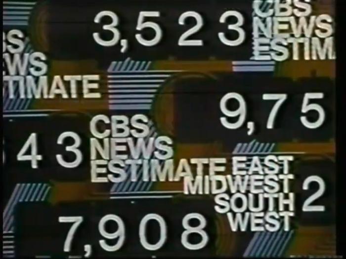 1972 U.S. election, CBS News 7