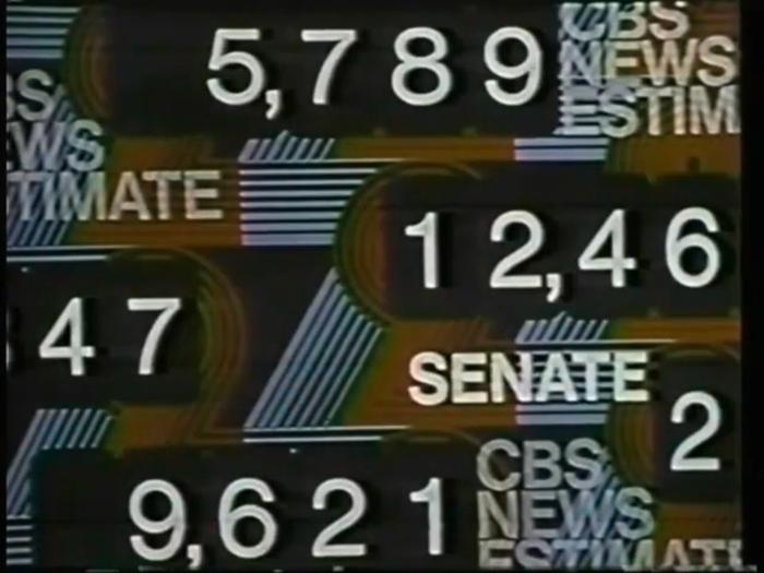 1972 U.S. election, CBS News 9
