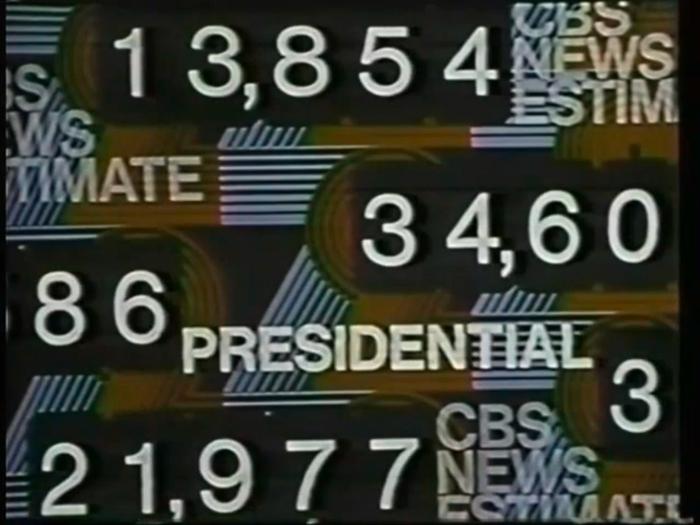 1972 U.S. election, CBS News 10
