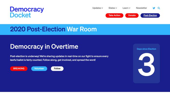 Democracy Docket website 2