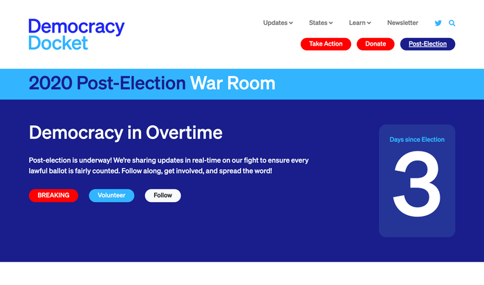 Democracy Docket website 2