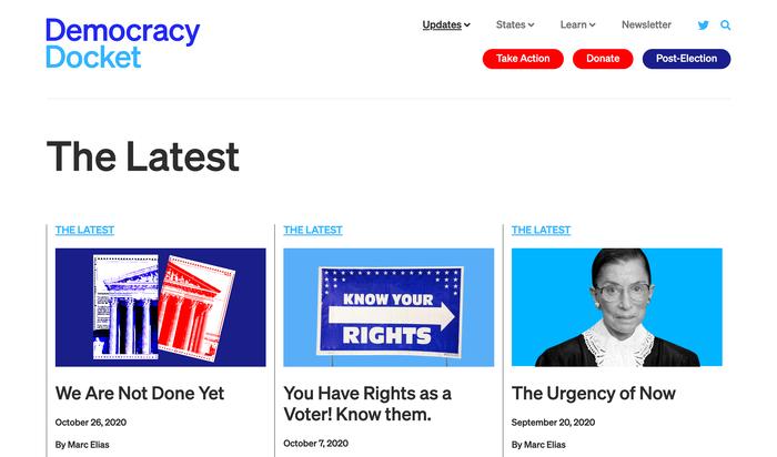 Democracy Docket website 1