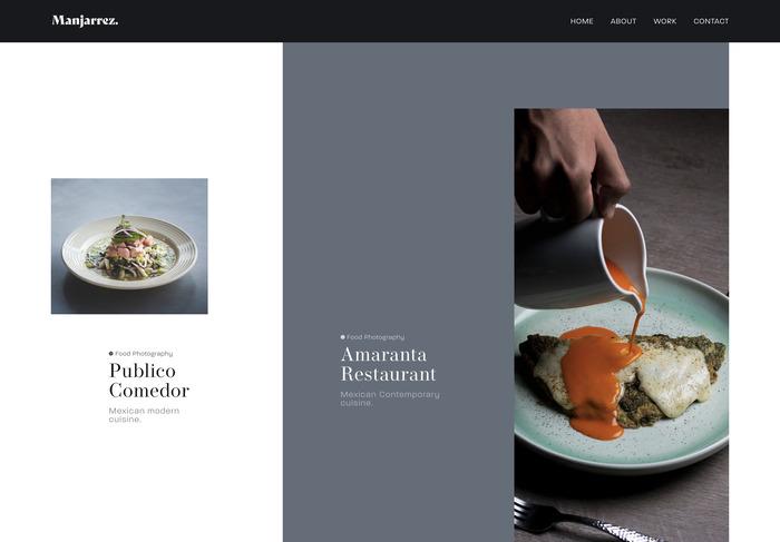 Leo Manjarrez portfolio website 3