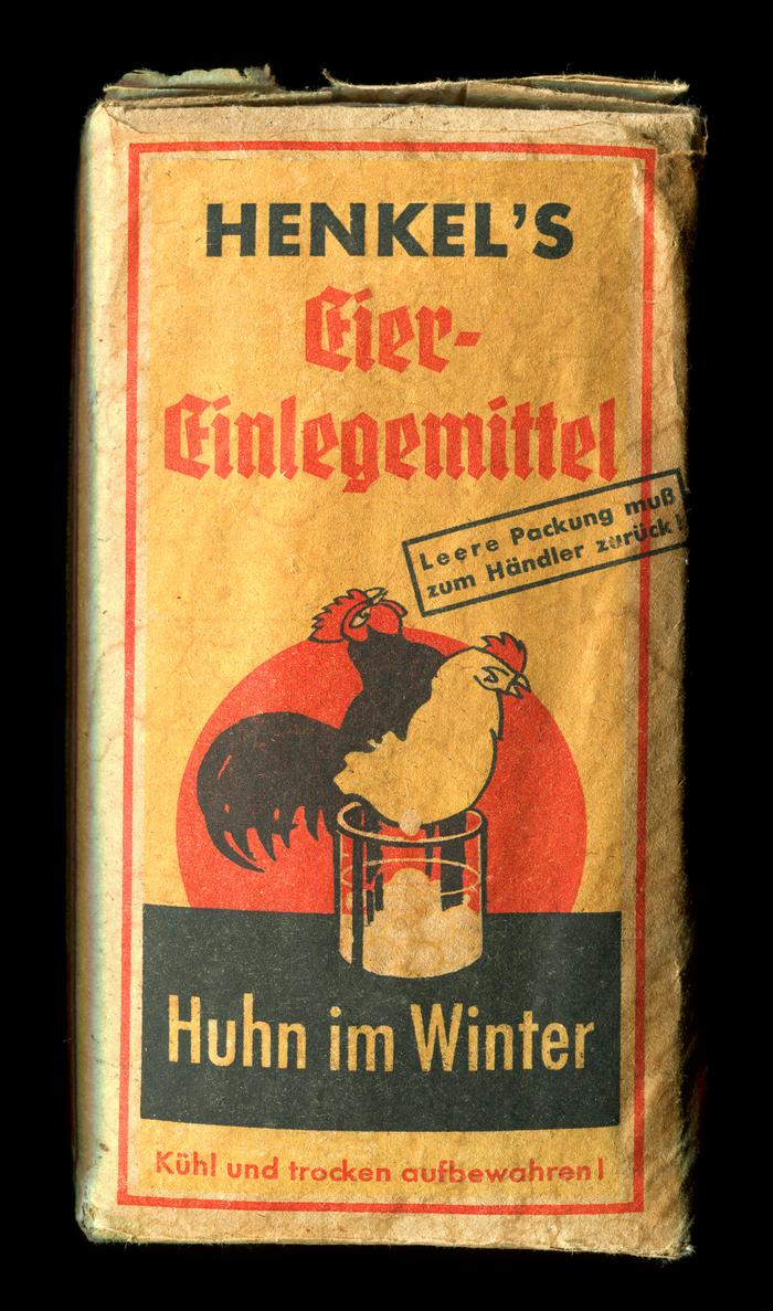 Henkel's Eiereinlegemittel packaging