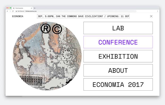 Think Economia festival website 2