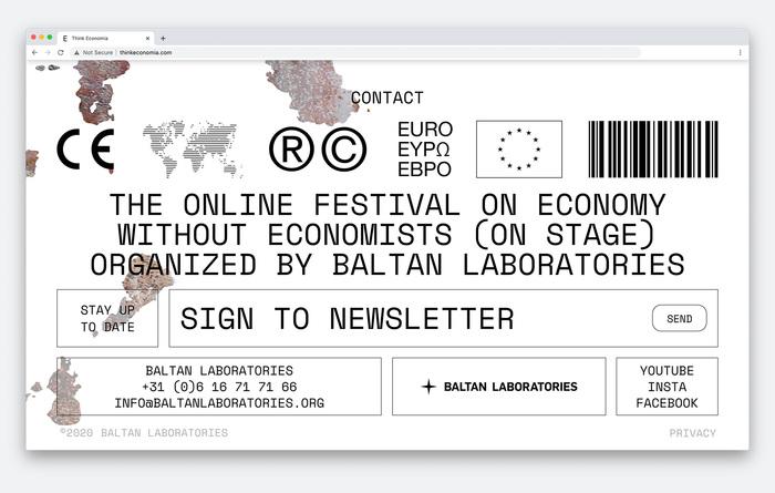 Think Economia festival website 3