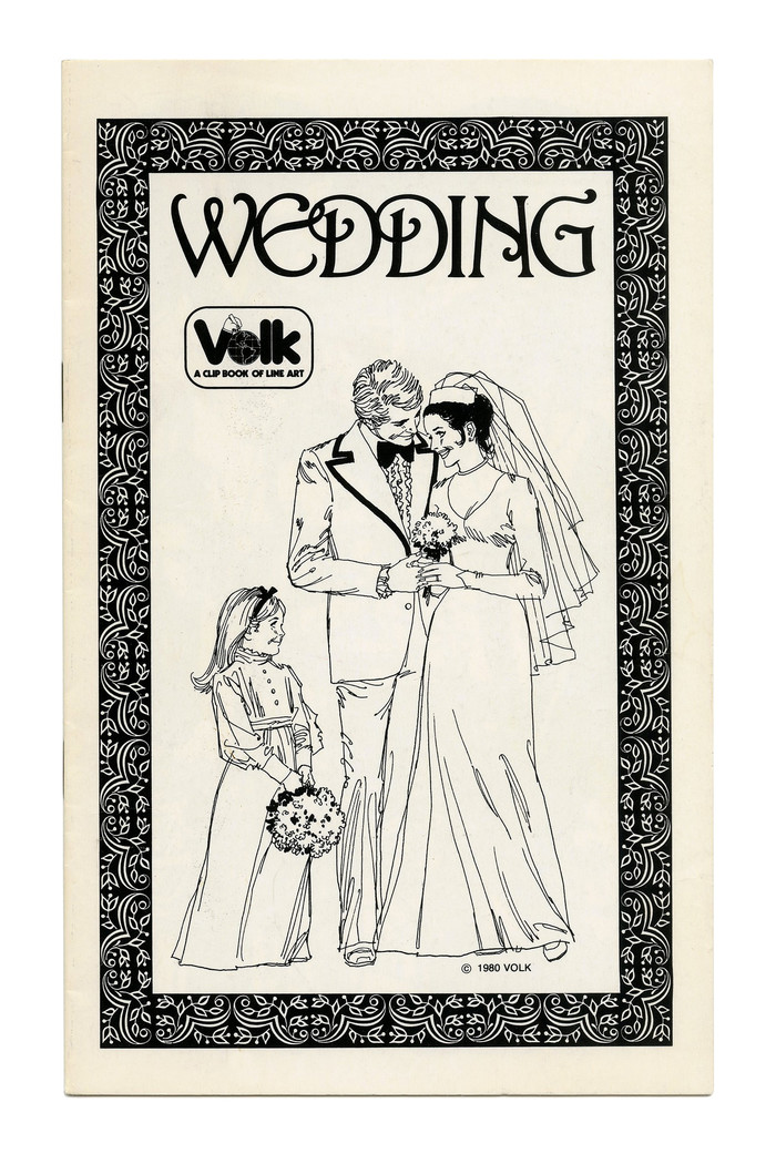 """Wedding"" (No. 328) ft. partly overlapping caps from . The typeface was first issued by John Haddon & Co. in 1899."