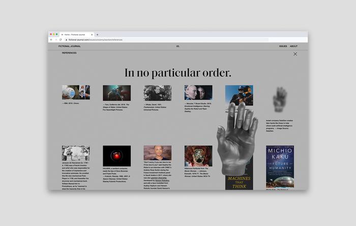 Fictional Journal website 7