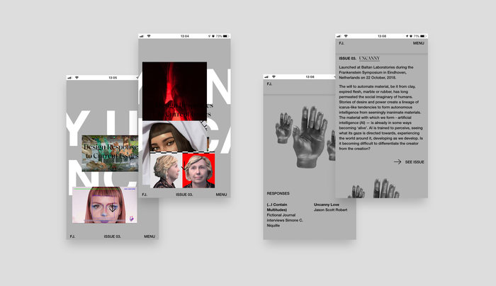 Fictional Journal website 8