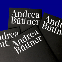 Andrea Büttner exhibition catalogue
