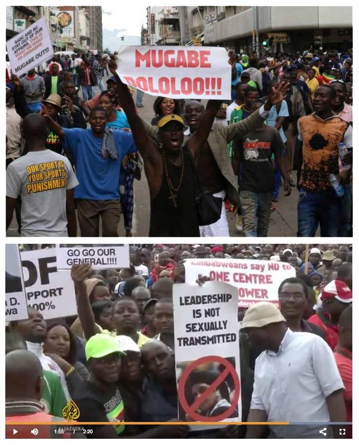 Anti-Mugabe protest signs 1