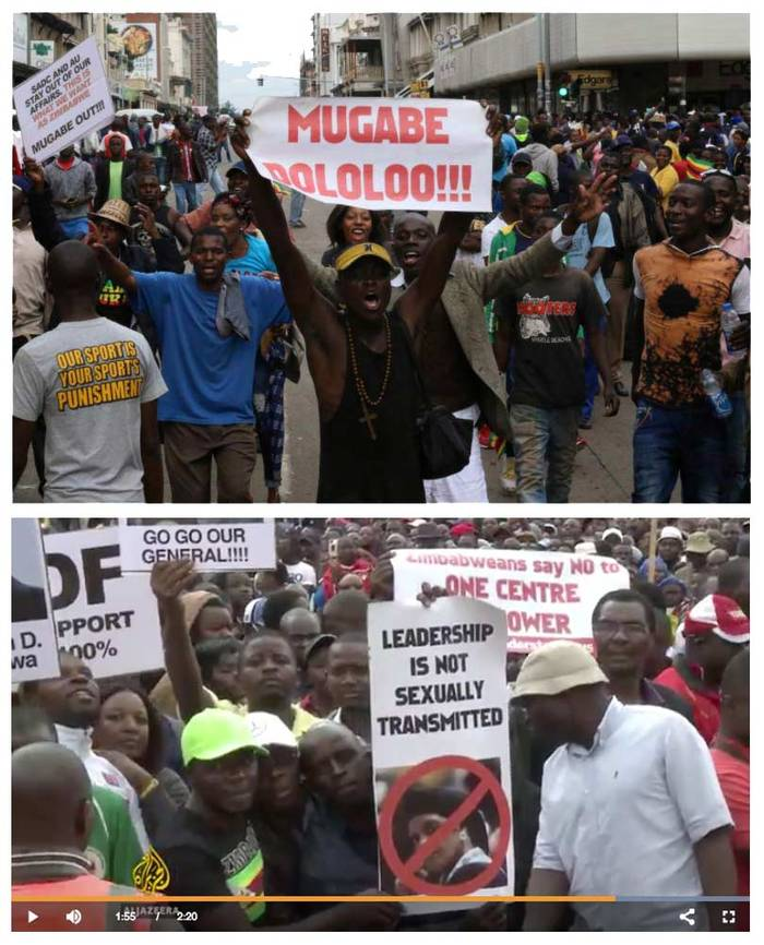 Anti-Mugabe protest signs 1