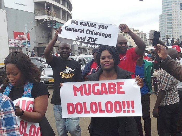 Anti-Mugabe protest signs 2