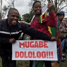 Anti-Mugabe protest signs