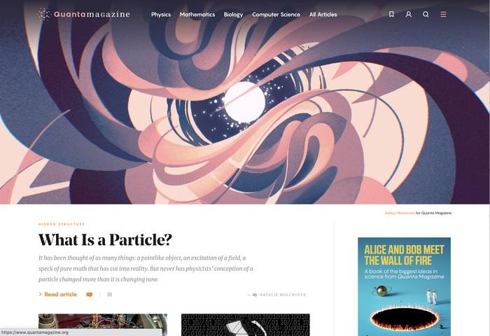 Quanta Magazine website 1