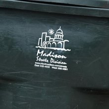 Madison Streets Division recycling bin
