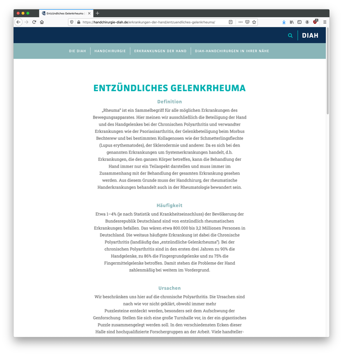 DIAH website 3