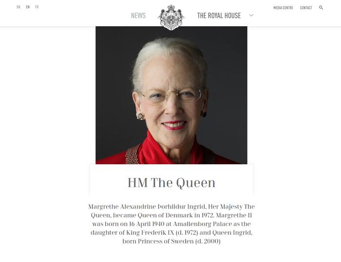 The Royal House website 1