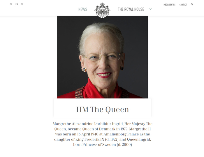 The Royal House website 1
