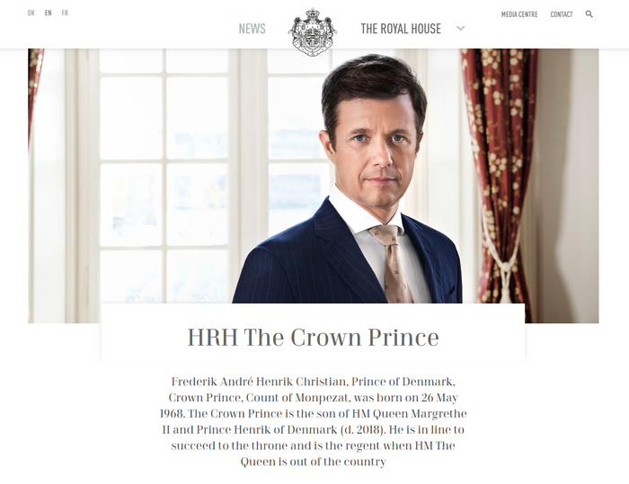 The Royal House website 2