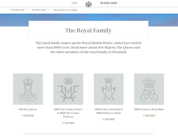The Royal House website 3