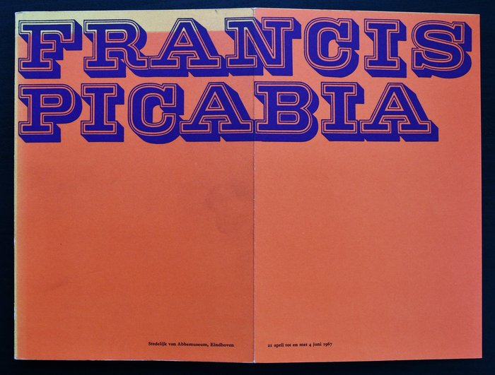 Catalog cover and inner flap. The small text is set in what looks like a bold  variant.