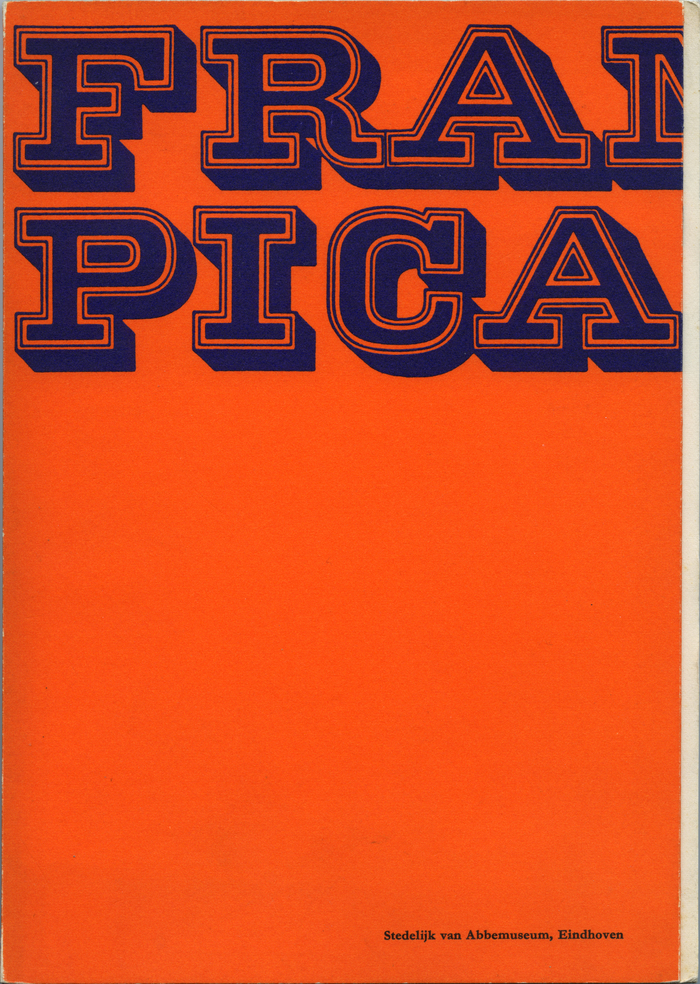 Catalog cover (closed). The catalog has 80 pages and measures 9.5×6.5 inches. It was edited by Jean Leering and printed by Lecturis nv, Eindhoven.
