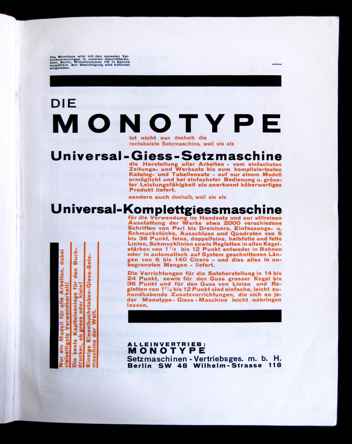 Monotype advertisement in Offset7 (1926)