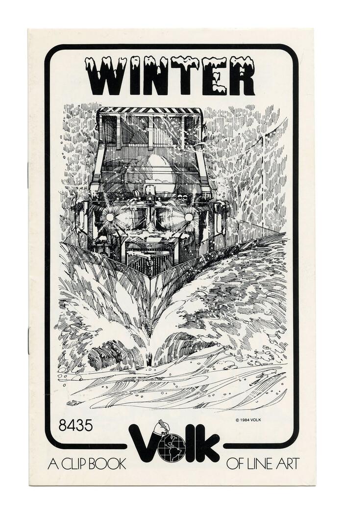 """Winter"" (No. 8435) ft. , a snow-capped bold grotesque similar to ."