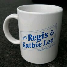 <cite>Live with Regis &amp; Kathie Lee</cite> mug