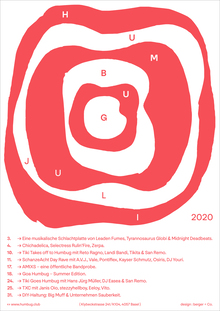 Humbug July 2020 program poster series