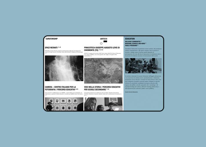 Arteco website 6