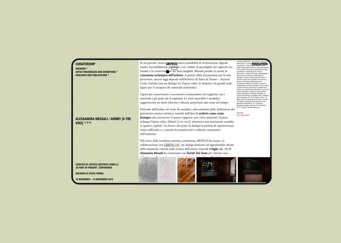 Arteco website 5