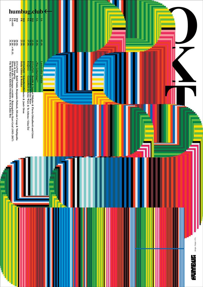Humbug October 2020 program poster series