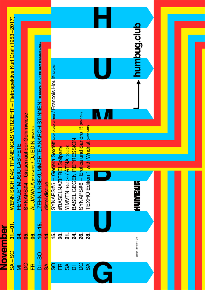 Humbug November 2020 program poster series 3