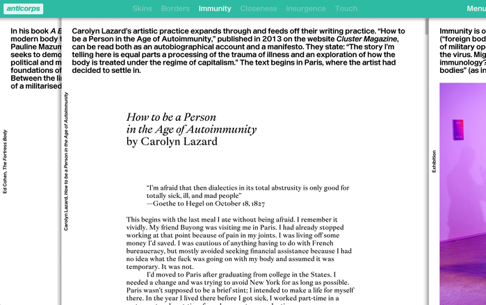 Paragraph beginnings are marked by large indents, a measure that's echoed here for the introductory quote.