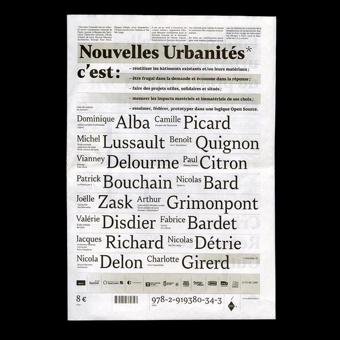Nouvelles Urbanités 1