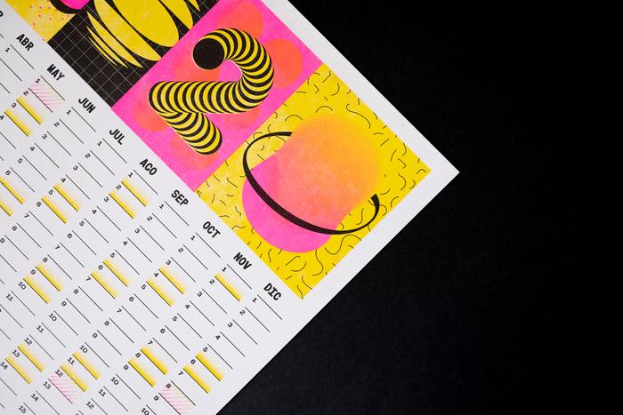 Calendar 2020 (Risograph print) 1
