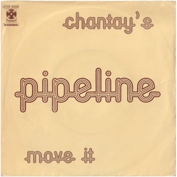 """The Chantays – """"Pipeline"""" Italian single cover"""
