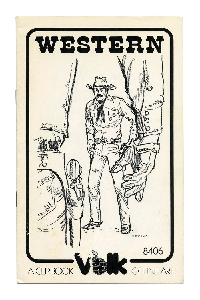 """Western"" (No. 8406) ft. a version of the  style, here probably Letraset's ."