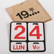 Perpetual wall calendar by Enzo Mari