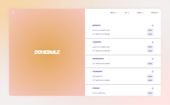 Joy Space website 6